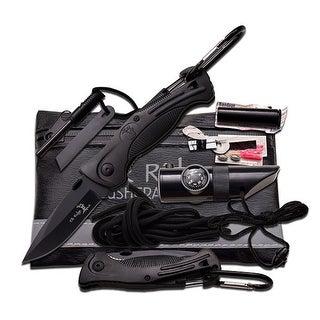 Master Cutlery Elk Ridge Black Survival Kit 6.75 X 4.25 - ER-PK4B