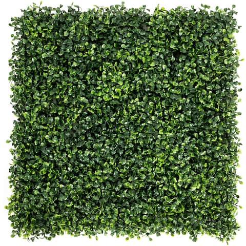 Costway 12 PCS 20''x20'' Artificial Boxwood Plant Wall Panel Hedge
