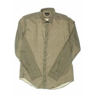 Zara Black Tag Mens Silk Collared Button-Down Shirt - XL