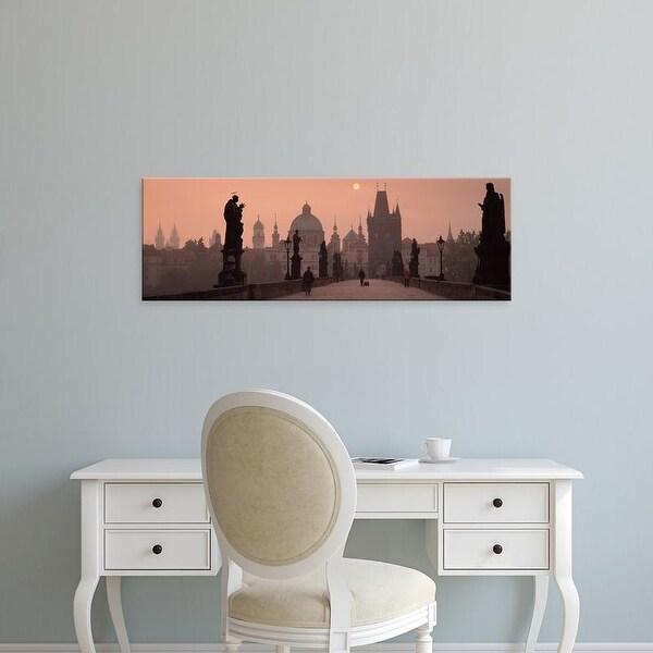 Easy Art Prints Panoramic Images's 'Church of St. Francis, Old Town Bridge Tower, Prague, Czech Republic' Canvas Art