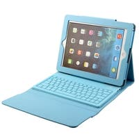 Wireless bluetooth Folding Keyboard Case Cover Sky Blue for iPad 2/3/4