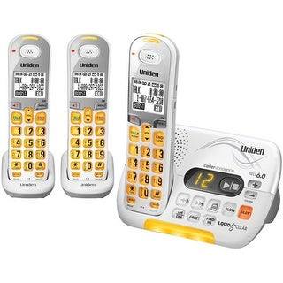 Uniden D3097-3 Amplified Cordless Phone with 2 Additional Handsets