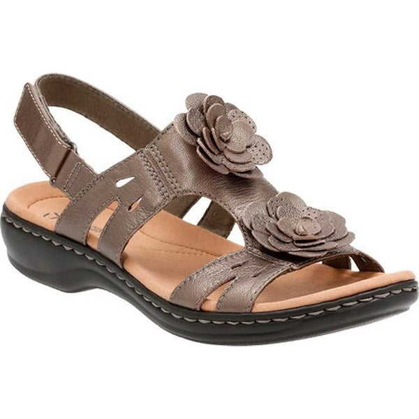 cf99059074d ... Women s Shoes     Women s Sandals. Clarks Women  x27 s Leisa Claytin  Strappy Sandal Pewter Metallic Leather