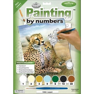 "Junior Small Paint By Number Kit 8.75""X11.75""-Leopard"