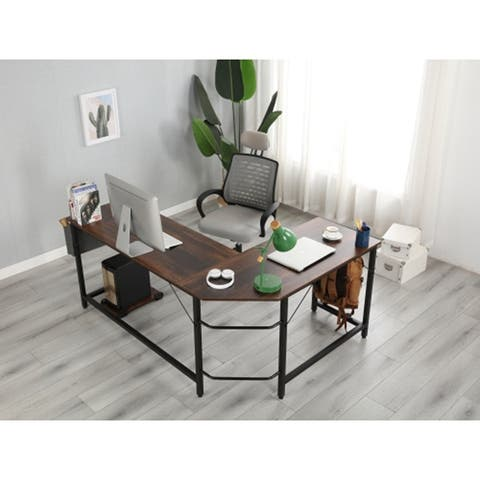 L-Shaped Desk Corner Computer Desk PC laptop Computer Table
