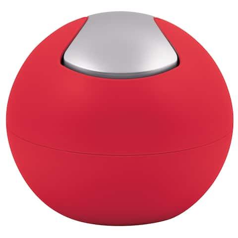 Countertop Waste Basket Spirella Bowl Matte Red