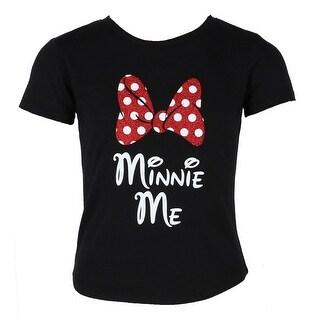 Disney Girls Minnie Mouse Glitter Bow Tee Shirt