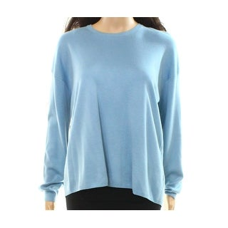 Theory NEW Blue Womens Size Large L Vented-Back Pullover Sweater