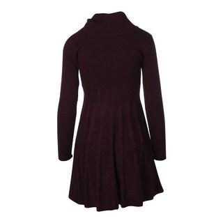 Calvin Klein Womens Petites Sweaterdress Shadow Stripe Cowl Neck (Option: Pl)