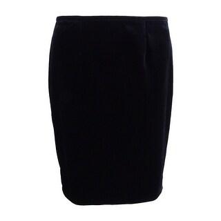 Calvin Klein Women's Petite Velvet Skirt - Black
