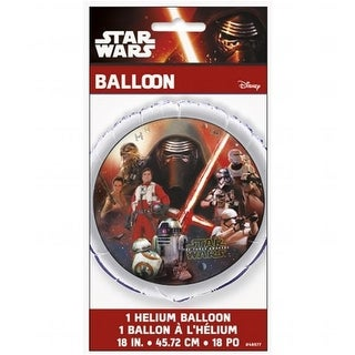 Star Wars 30342045 18 in. Star Wars The Force Awakens Foil Balloon