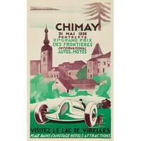 Belgium Chimay Grand Prix Fosset 1936 Vintage Ad (Art Print - Multiple Sizes)