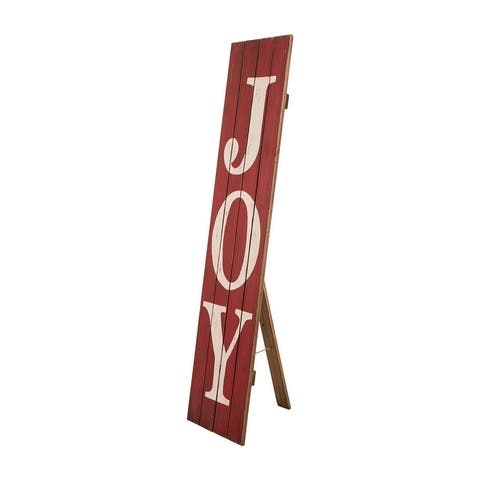 """Glitzhome 43""""H Christmas Solid Wood Garden Porch Sign"""