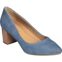 Aerosoles Women's Silver Star Pump Denim Combo Suede