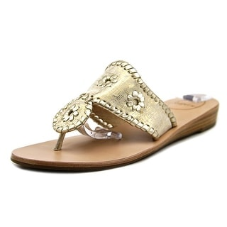 Jack Rogers Capri Etched Women Open Toe Leather Slides Sandal