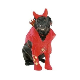 "Rubies Devil'd Lil Devil Dog Halloween Costume, Medium 14""-16"""