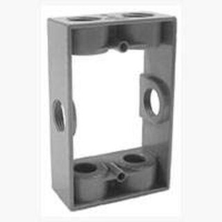 Bell 5400-0 Weatherproof Outlet Box Extension Adapter 1 Gang, Gray, 6-1/2