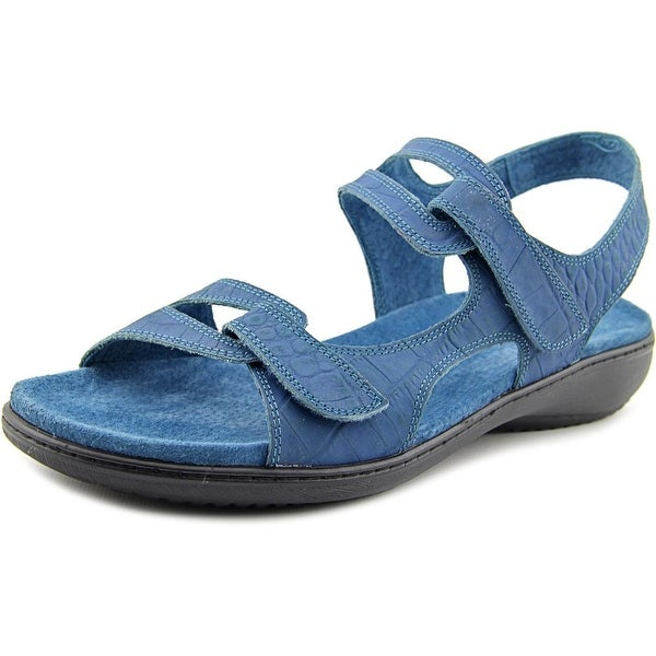 Trotters Katarina Women WW Open-Toe Leather Blue Sport Sandal