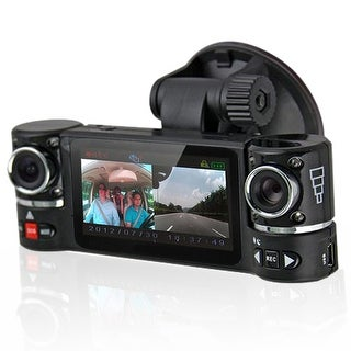 "Indigi® F600 Car DVR DashCam w/ Dual Rotating Cameras (Front+Rear) Driving Recorder with 2.7"" LCD w/ IR Nightvision"