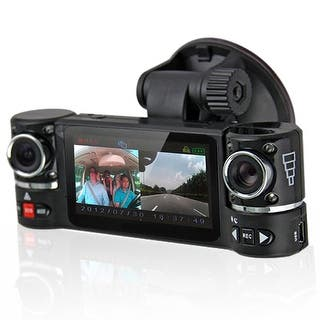 "Indigi® F600 Car DVR DashCam w/ Dual Rotating Cameras (Front+Rear) Driving Recorder with 2.7"" LCD w/ IR Nightvision