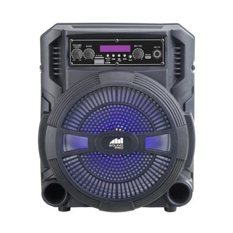 """Portable 8"""" Bluetooth? Party Speaker with Disco Light"""