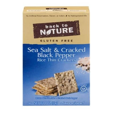 Back To Nature - Salt & Black Pepper Gluten Free Crackers ( 12 - 4 OZ)