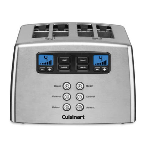 Cuisinart CPT-440P1 Touch to Toast Countdown Leverless 4-Slice Toaster