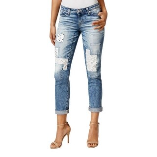 Big Star Womens Skinny Jeans Patchwork Vagabond Wash
