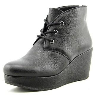 BCBGeneration Kenan Women  Open Toe Leather Black Wedge Heel