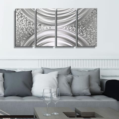 Statements2000 Silver Modern Abstract Metal Wall Art Sculpture by Jon Allen
