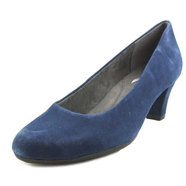 Aerosoles Shore Thing Women Round Toe Suede Blue Heels
