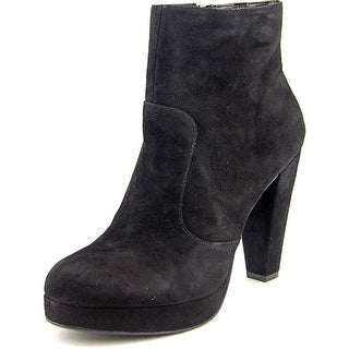 Steve Madden Rancee Women Round Toe Suede Black Ankle Boot
