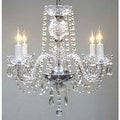 Swarovski Elements Crystal Trimmed Authentic All Crystal Plug In Chandelier - Thumbnail 0