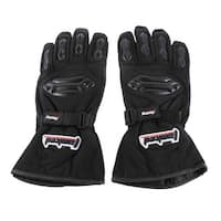 Unique Bargains Racing Bike Sport Cycling Motorcycle Full Finger Gloves L Pair Black White
