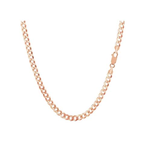 Pori 10K Rose Gold Lightweight 110 Curb Chain Necklace
