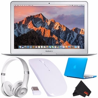 "Apple 13.3"" MacBook Air 128GB SSD + Beats by Dr. Dre Beats Solo3 Wireless Headphones (Silver) + Optical Wireless Mouse Bundle"