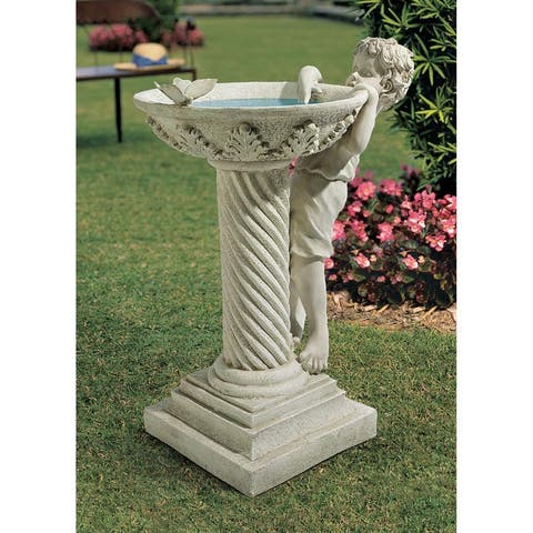 Design Toscano Summer's Splash Sculptural Birdbath