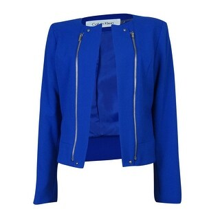 Calvin Klein Women's Crop Zipper Jacket