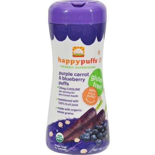 Happy Family - Organic Puffs - Purple Carrot And Blueberry ( 6 - 2.1 OZ)