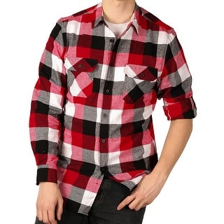 Straight Faded Men's Roll-Sleeve Flannel Shirt (2 options available)