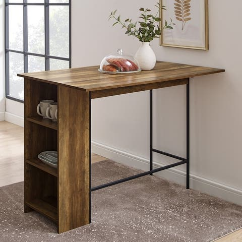 Carbon Loft 48-inch Drop Leaf Storage Counter Table