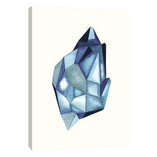 """PTM Images 9-105709  PTM Canvas Collection 10"""" x 8"""" - """"Faceted Gem Azure"""" Giclee Abstract Art Print on Canvas"""