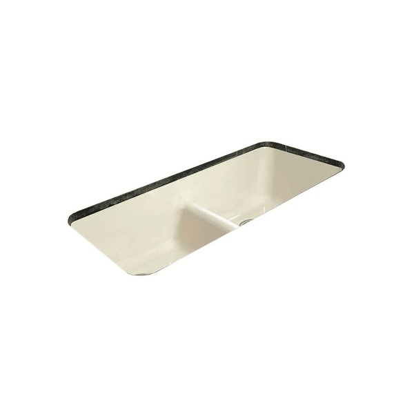 "Miseno MCI44-0UM-LD 43"" Cast Iron Double Basin Kitchen Sink for Undermount Installations with 50/50 Split and Sound Dampening"