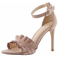 Jessica Simpson Silea Women's Open-Toe Dress Pumps Shoes Ankle Strap Ruffled
