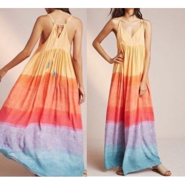 de109b98bb6d Shop Anthropologie Setting Sun Maxi Dress - Free Shipping Today ...