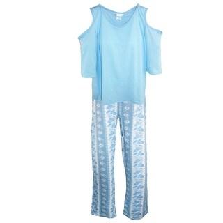 Sag Harbor Women's Cold Shoulder Fashion Pajama Set