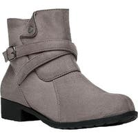 Propet Women's Shelby Ankle Boot Taupe Velour