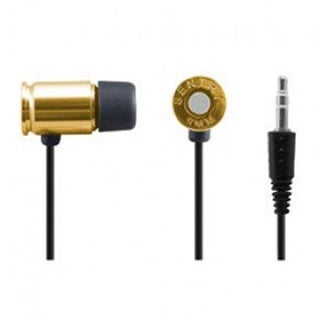 Sentry HM9MG 9 mm Bullet Earbuds with Mic, Gold