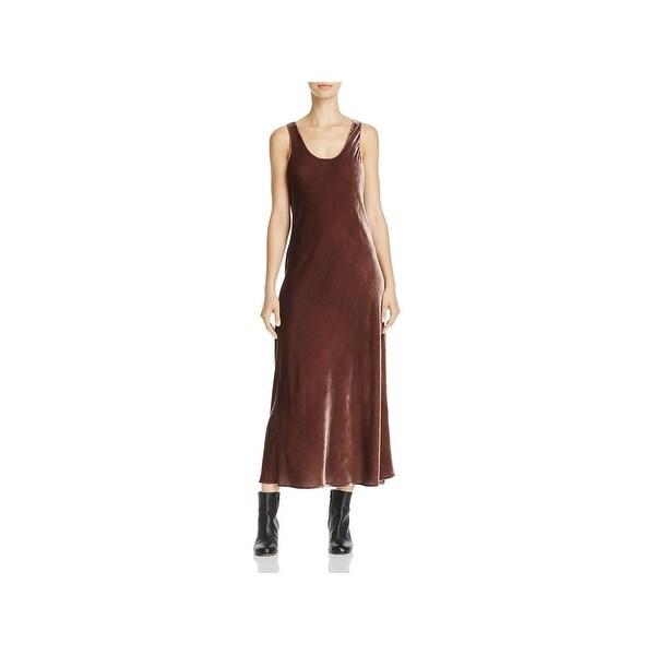 7fb39a88fd Shop Vince Womens Tank Dress Silk Blend Full-Length - Free Shipping ...