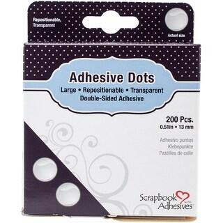 "Scrapbook Adhesives Large Dots 200/Pkg-Repositional, .51"""